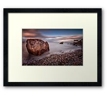 Evening at Knab rock in Mumbles Framed Print
