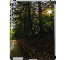 Autumn sunshine through the trees in Longleat Forest, Wiltshire iPad Case/Skin