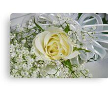 Wedding White Canvas Print