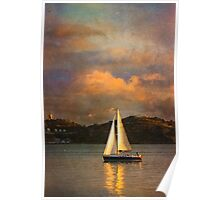 Rembrandt sailing in Lisbon:) Happy Easter dear friends:) Poster