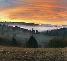 panorama of the Carpathian by sergnester