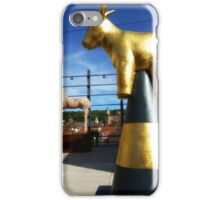 Modern Sculpture meets 15th Century Town/2 iPhone Case/Skin