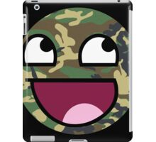 Awesome Camouflage MEME Face - Camo texture iPad Case/Skin