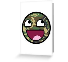 Awesome Camouflage Face Greeting Card