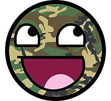 Awesome Camouflage Face Photographic Print