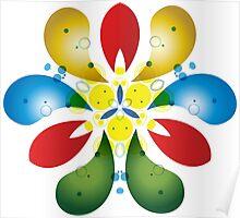 Colored Petals Poster