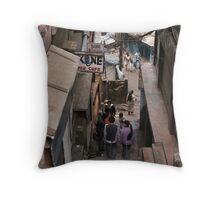 Down in Darjeeling Throw Pillow