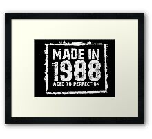 Made In 1988 Aged To Perfection - Tshirts & Hoodies  Framed Print