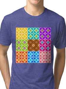Color patterns Tri-blend T-Shirt