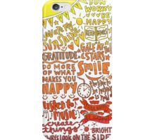Happy quotes collage (red-yellow) iPhone Case/Skin