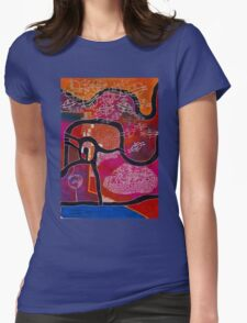 Elephant Maps or Google Maps Womens Fitted T-Shirt