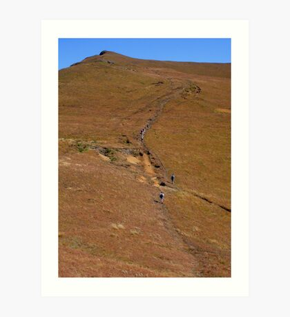 Trekking in the Drakensburg Art Print