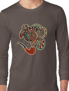 Pipe with smoke ornaments and curls Long Sleeve T-Shirt