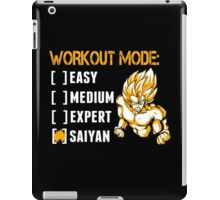 Workout Mode Easy Medium Expert Saiyan - Funny Tshirts iPad Case/Skin