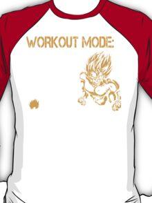 Workout Mode Easy Medium Expert Saiyan - Funny Tshirts T-Shirt
