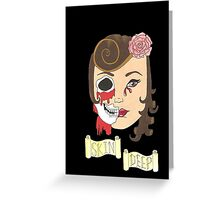 Beauty is Only Skin Deep (Black) Greeting Card
