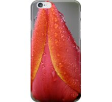 Tulip Flower With Raindrops iPhone Case/Skin