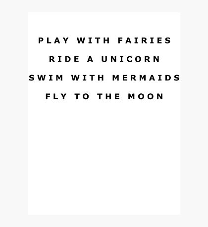 PLAY WITH FAIRIES RIDE A... Photographic Print