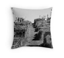 Graveyard trail Throw Pillow