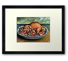 Blood red apple Framed Print
