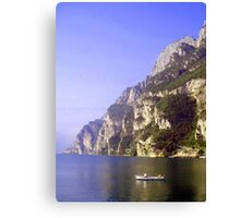 Lake Fishing, Lake Garda, Italy Canvas Print