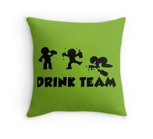 alcool funny cartoon bachelor party drink team  Throw Pillow