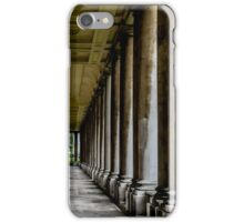 The columns of the Old Naval College in Greenwich, London iPhone Case/Skin