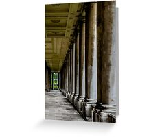 The columns of the Old Naval College in Greenwich, London Greeting Card