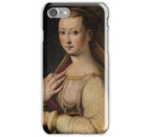 Emilian School, 16th century - Saint Catherine, monogrammed at upper right IVCL (ligated) iPhone Case/Skin