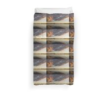 Boats and Clouds Summer Sunset Duvet Cover