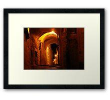 Abuhav alley Safed at night Framed Print