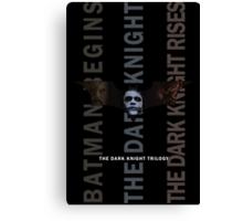 The Dark Knight Trilogy - Villains (Color) Canvas Print