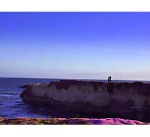 Love on a Cliff Photographic Print