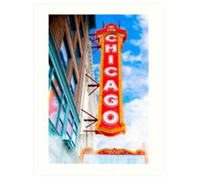 Vintage Chicago Theater Sign Art Print