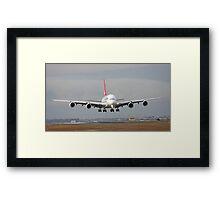 The Qantas A380 Framed Print