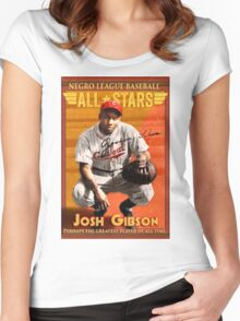 Josh Gibson All-Star Baseball Card Women's Fitted Scoop T-Shirt