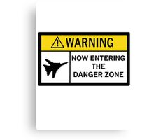 Danger Zone - Warning Canvas Print