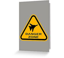 Danger Zone - Triangle Greeting Card