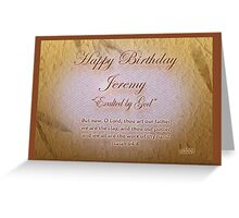 Birth of a Name Jeremy Greeting Card