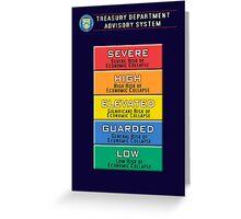 Economic Advisory System Greeting Card
