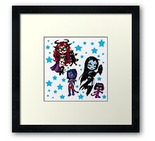 Tarot & Friends Chibi design Framed Print