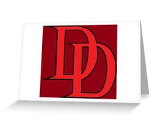 Daredevil Logo Greeting Card