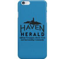 Haven Herald News Black Logo iPhone Case/Skin