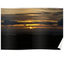 Sunset at Ocean Shores Poster