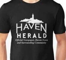 Haven Herald News White Logo Unisex T-Shirt