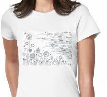 Summer garden Womens Fitted T-Shirt