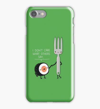 Sushi doesn't care iPhone Case/Skin
