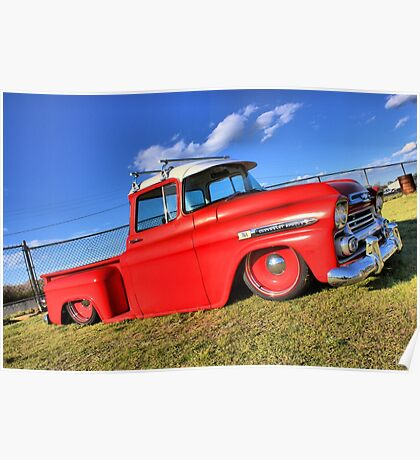 Colorful photo of a Chevy Poster