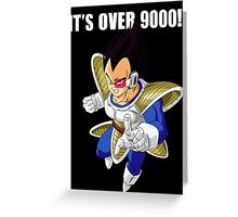 It's over 9000 Greeting Card
