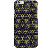 Modern - Triangles of Gold and Blue iPhone Case/Skin